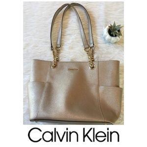 Calvin Klein Purse Gold Tote Handbag